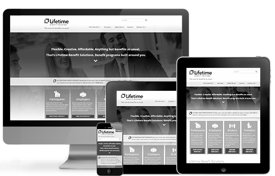 Employee Benefits Responsive Website Entry Portfolio