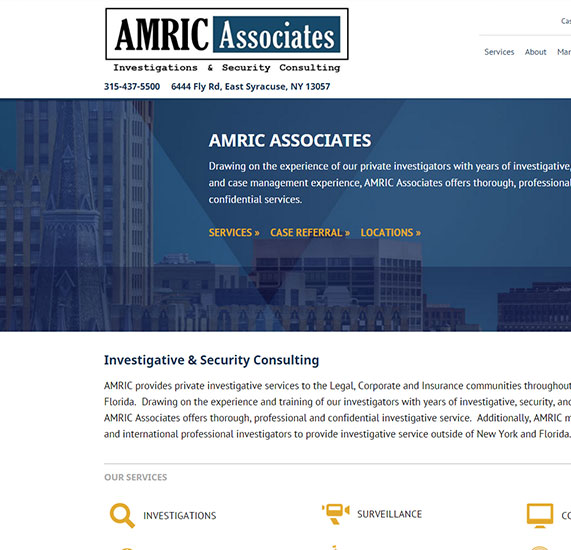 Security and Investigation Web Design Project