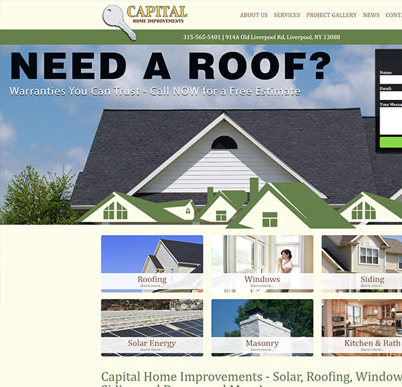 Home Improvement Contracting Custom Content Management System Web Design