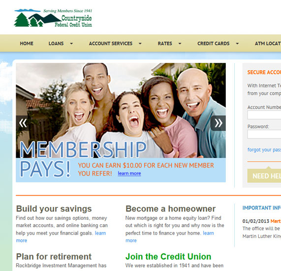 Credit Union Web Development Project