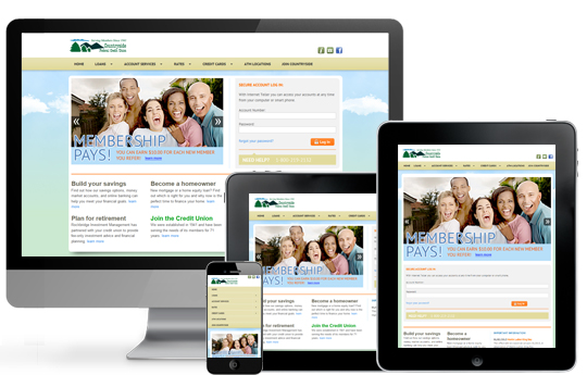 Countryside Credit Union Responsive Web Redesign by ACS