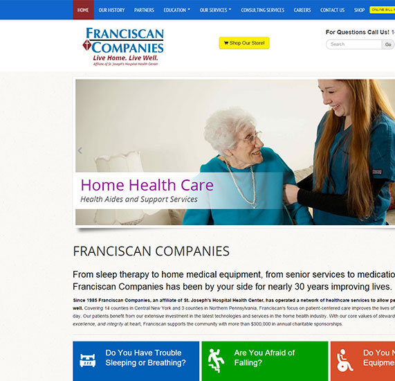 medical website design project