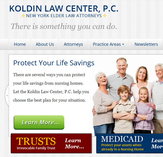 responsive legal website design project