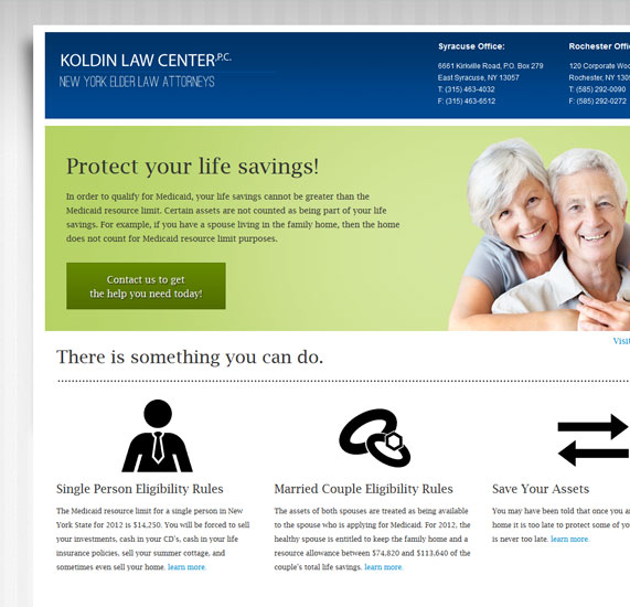 Legal Website Landing Page Design