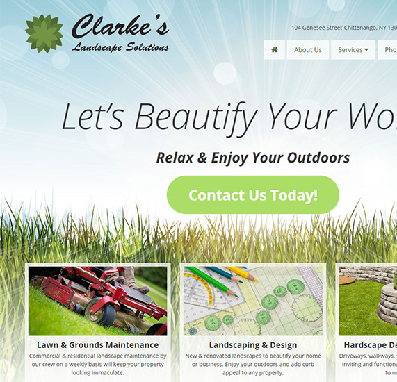 Landscaping Company Web Design Project