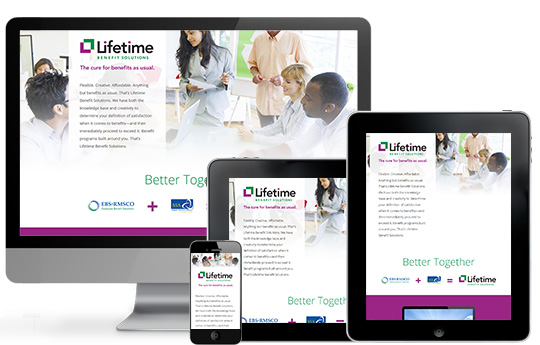 Responsive landing page solutions for LBS