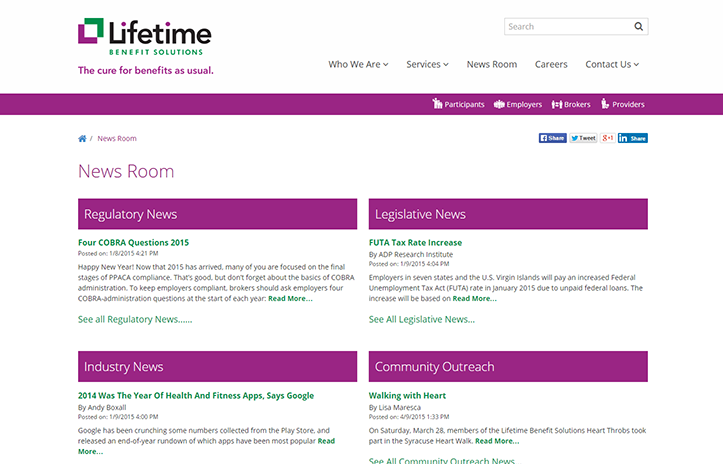 Lifetime Benefit Solutions News Room