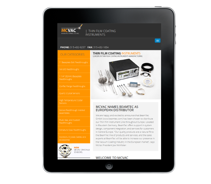 Example of Responsive Website design for Industry and Manufacturing Firm