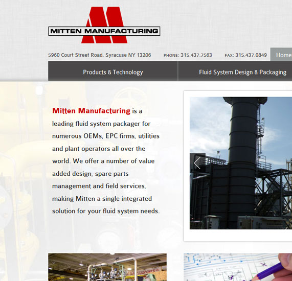Manufacturing Web Design Project