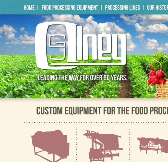 Food Processing Web Design Portfolio listing