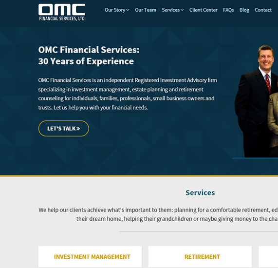 Financial Services Responsive Web Design Project