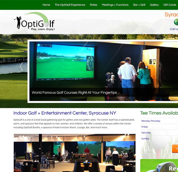 Entertainment and Golf Web Design Project