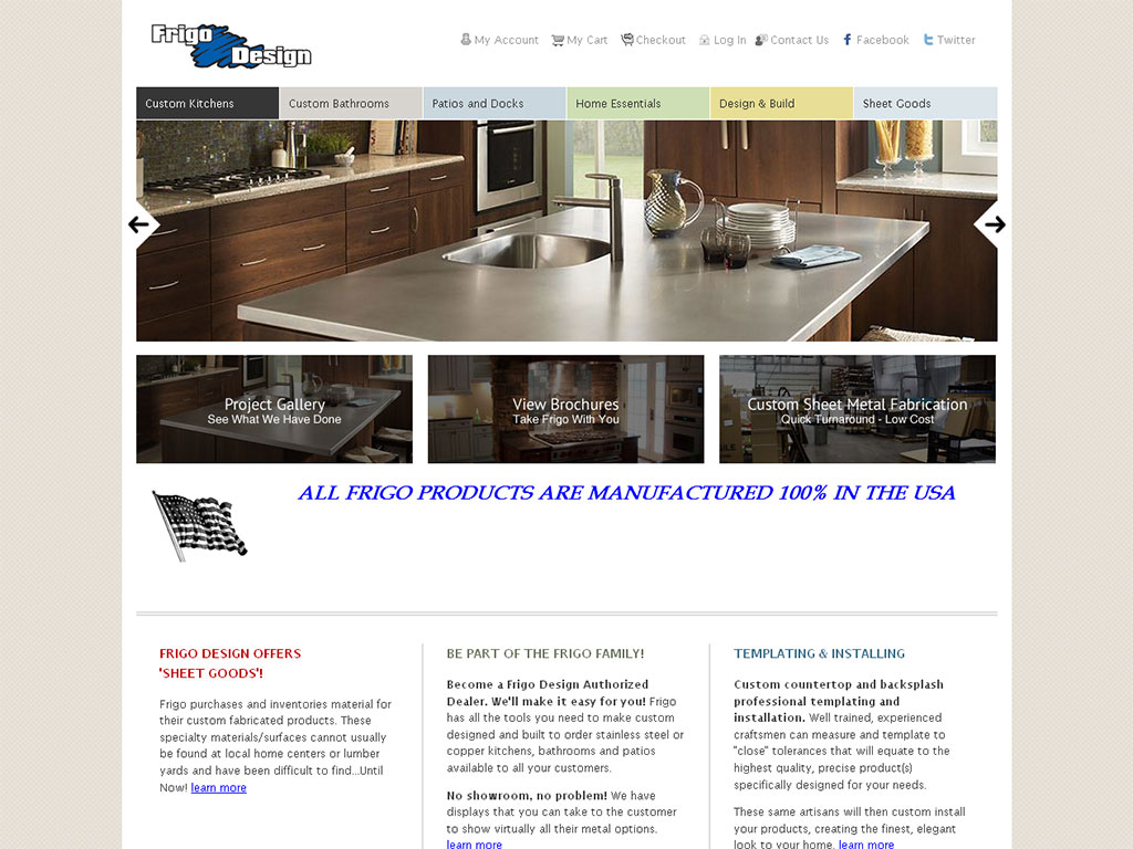 Manufacturer Web Design Example
