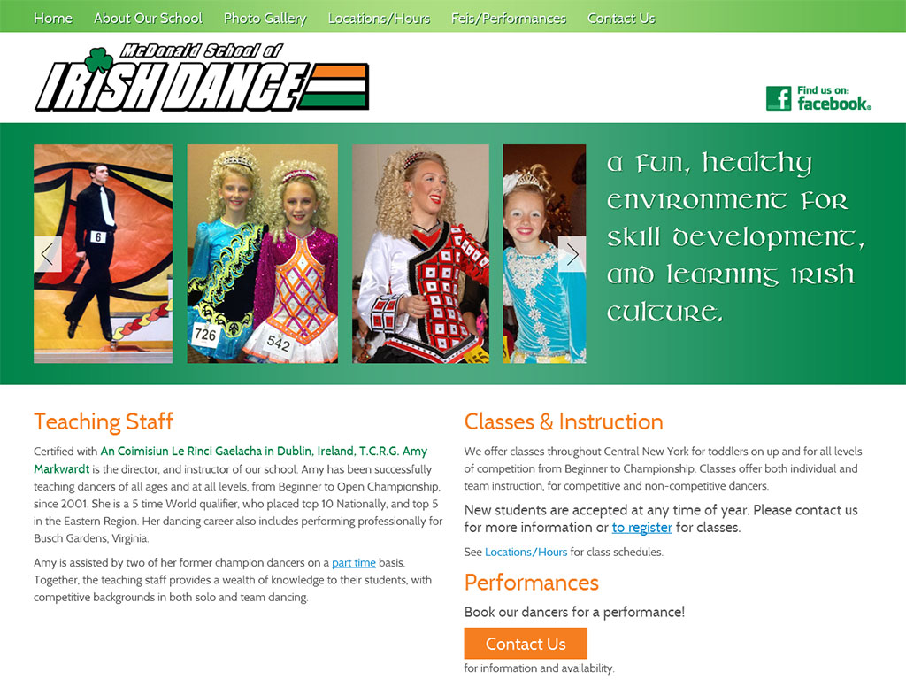 Dance School Web Design Project