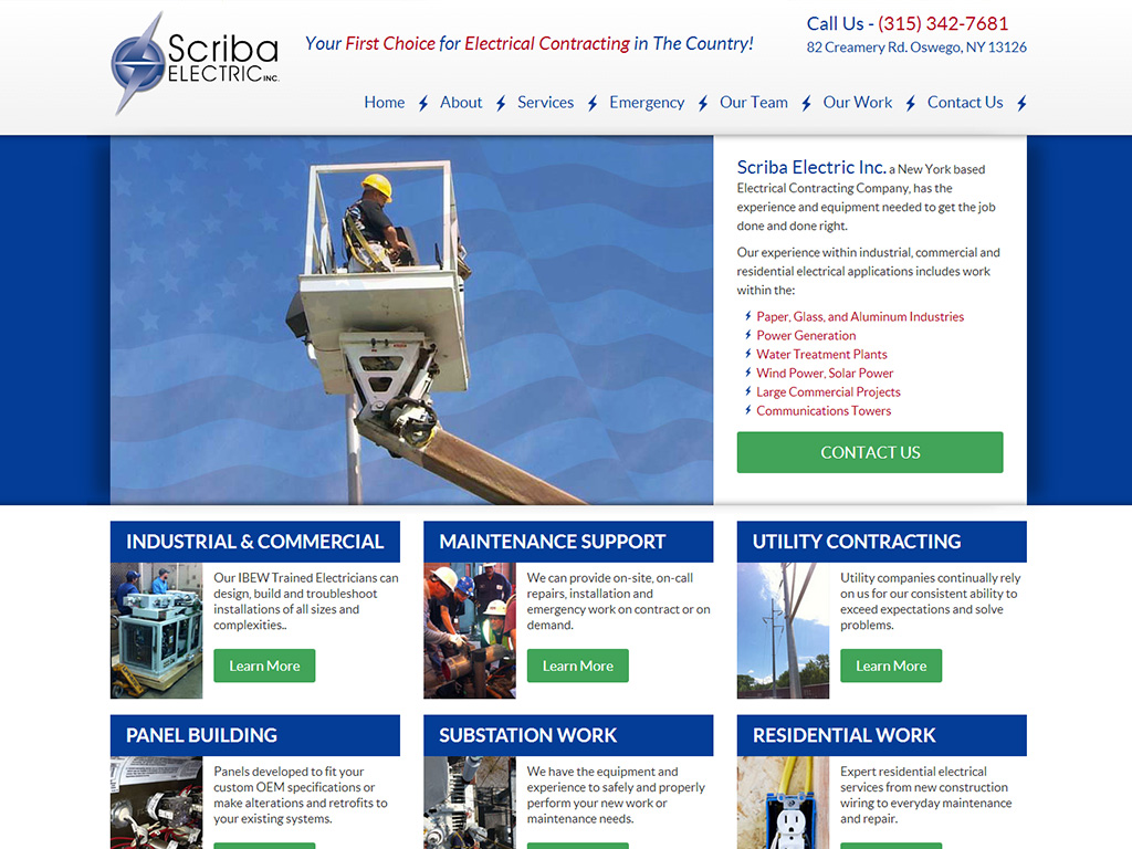 Industrial and Commercial Web Design Example