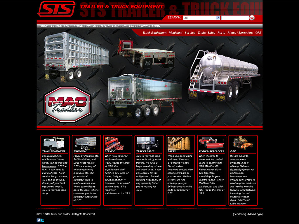 Commercial Automotive Web Design Example