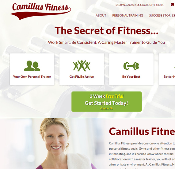 Personal Trainer Landing Page Website Project