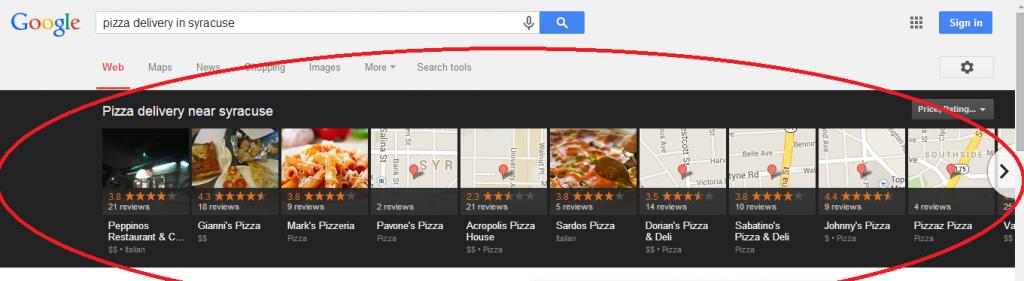 Google Carousel example.
