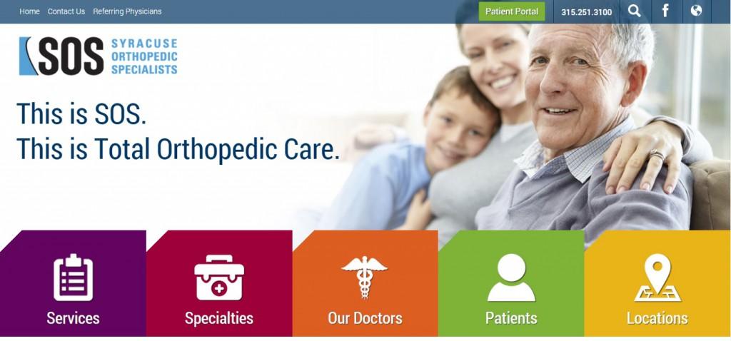 SOS' new medical web design includes a mobile-friendly design and a regulation-compliant patient portal.