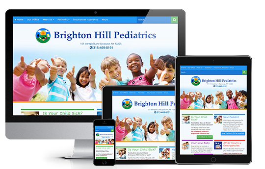 medical website design brighton hill pediatrics by acs inc web design and seo near syracuse ny