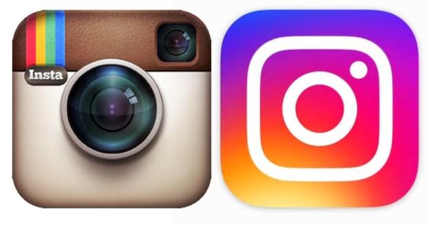 logo design old and new instagram logo by acs inc web design and seo near syracuse ny