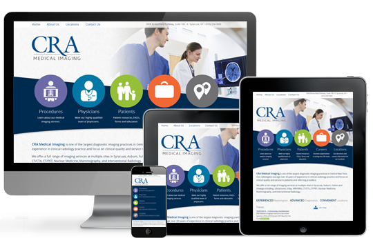 medical website design examples CRA by acs inc web design and seo
