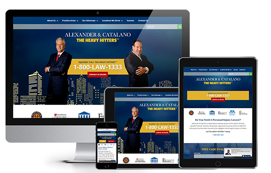Legal Website design showing responsive web design by acs inc web design and seo