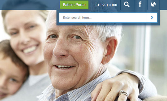 Custom search feature in medical cms by ACS, Inc Web Design & SEO