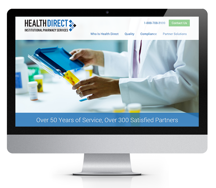 Desktop View of Medical and Pharmaceutical Website Design