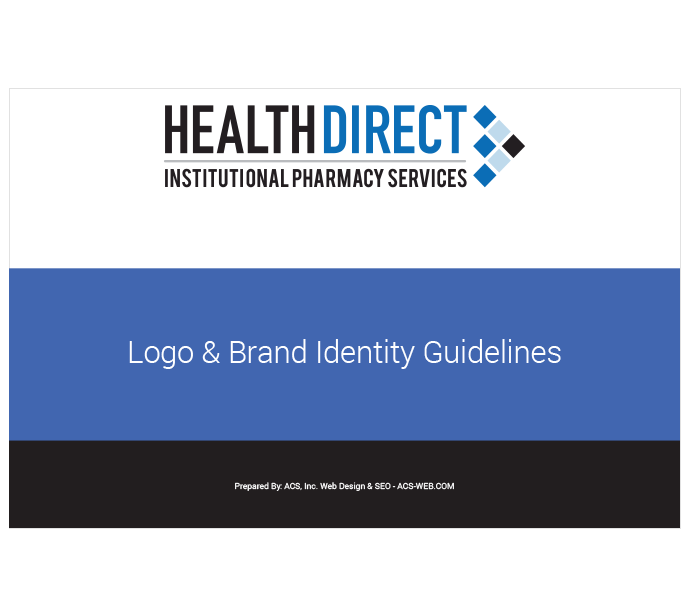Brand Guidelines for new institutional pharmacy service
