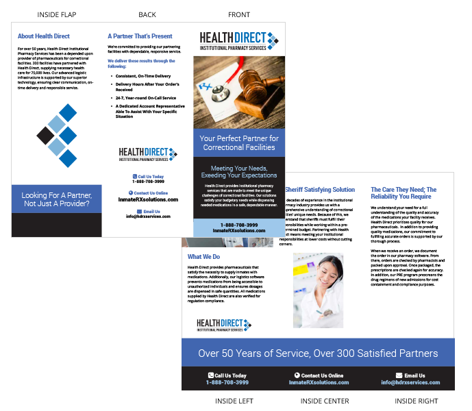 Brochure example for sales materials for tradebooths - Medical Design example