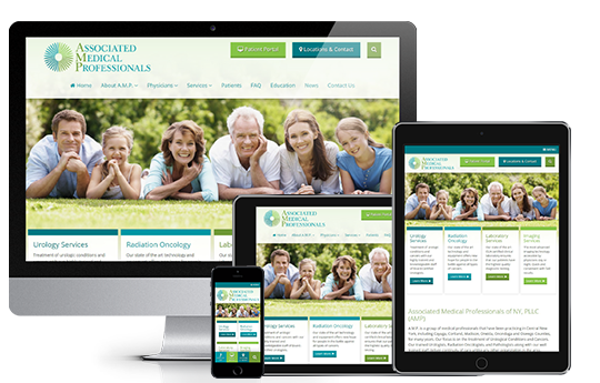 Medical Website Design in Responsive View
