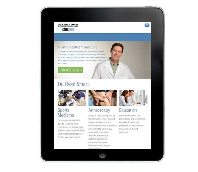 medical doctor web design portrait