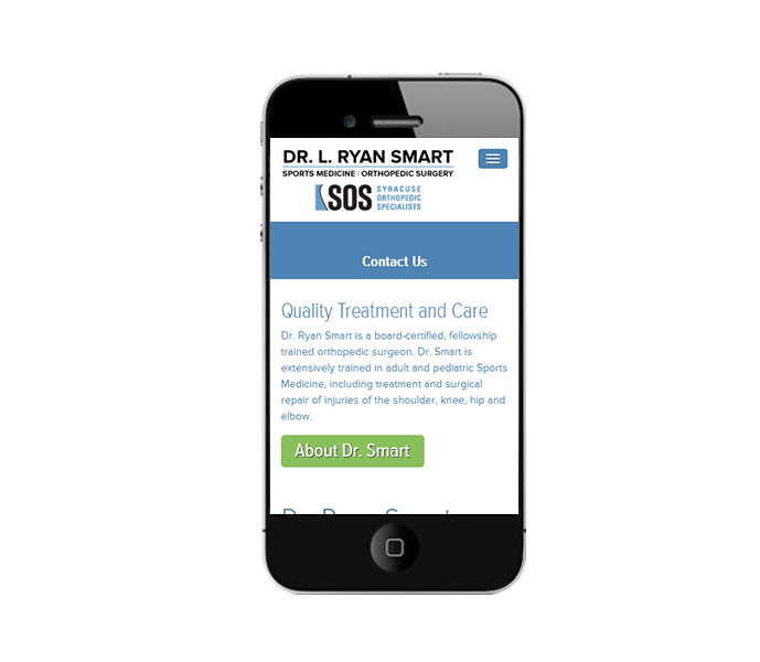 medical doctor web design phone