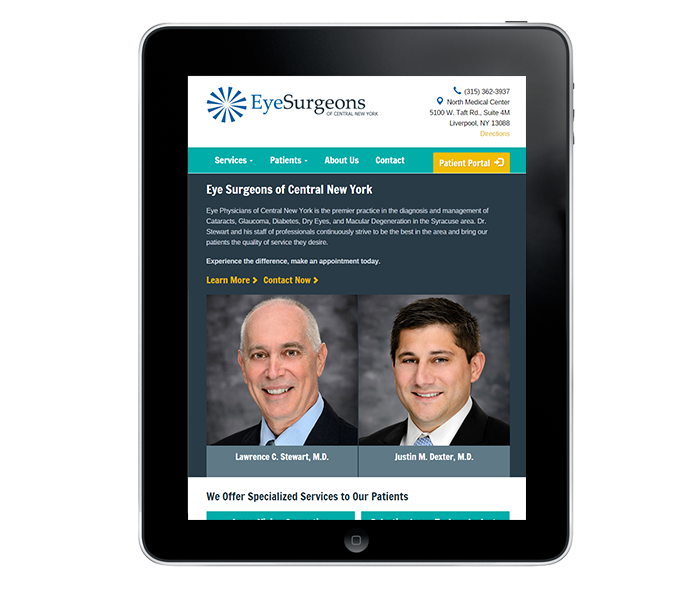 Portrait View of Eye Surgeon Website Design