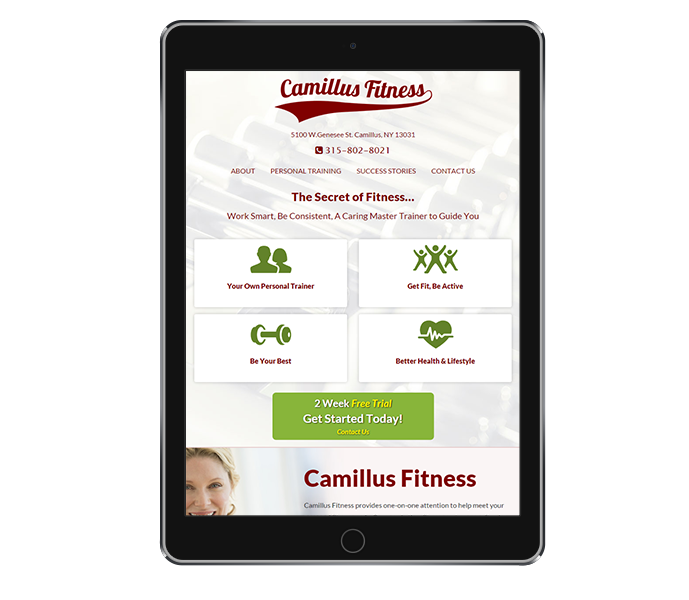 Responsive Web Design for Personal Trainer