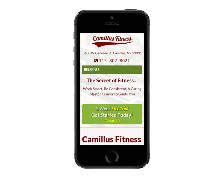 Phone View of Mobile Design for Personal Trainer
