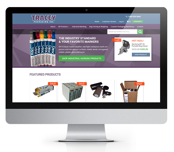 desktop view of industrial equipment ecommerce website design