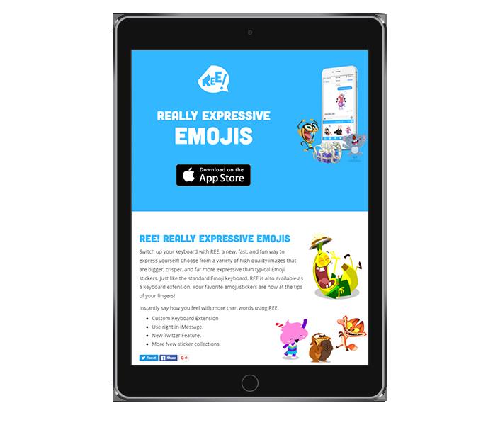 Mobile App Landing Page Design