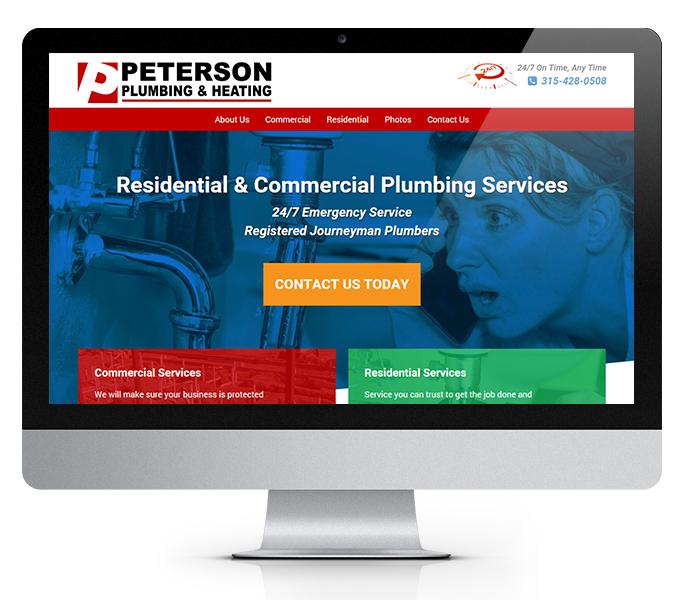 desktop view of Plumbing web design
