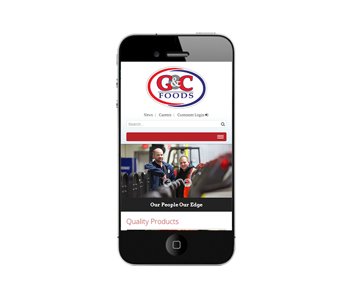 custom cms corporate website phone view