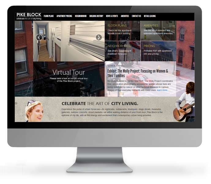desktop view of apartment website - Apartment Website Design