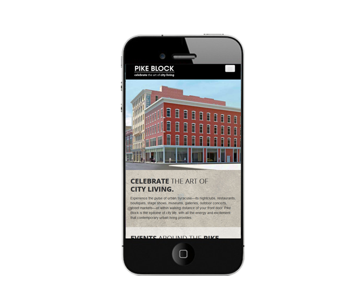 phone view of apartment website