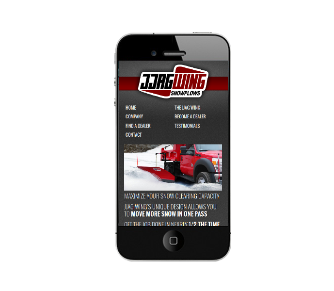 responsive commercial website design mobile view