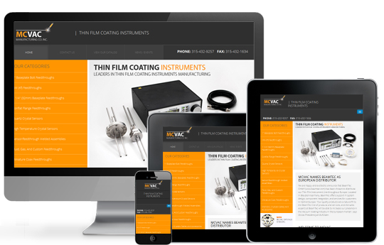 Responsive View for Manufacturing Website Design