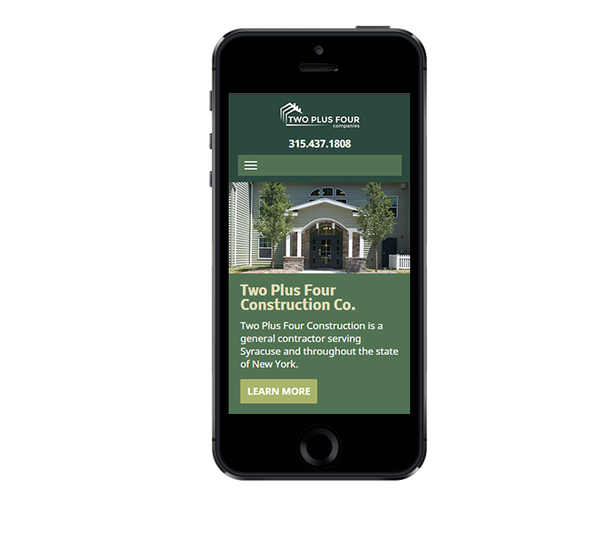 mobile view of property development responsive web design