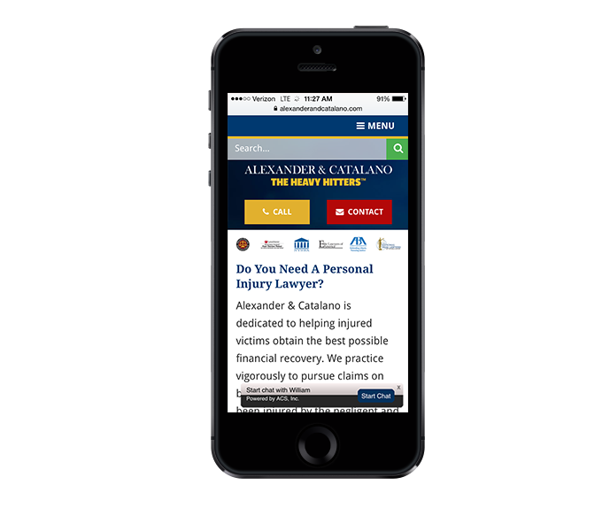 mobile friendly web design for law firms