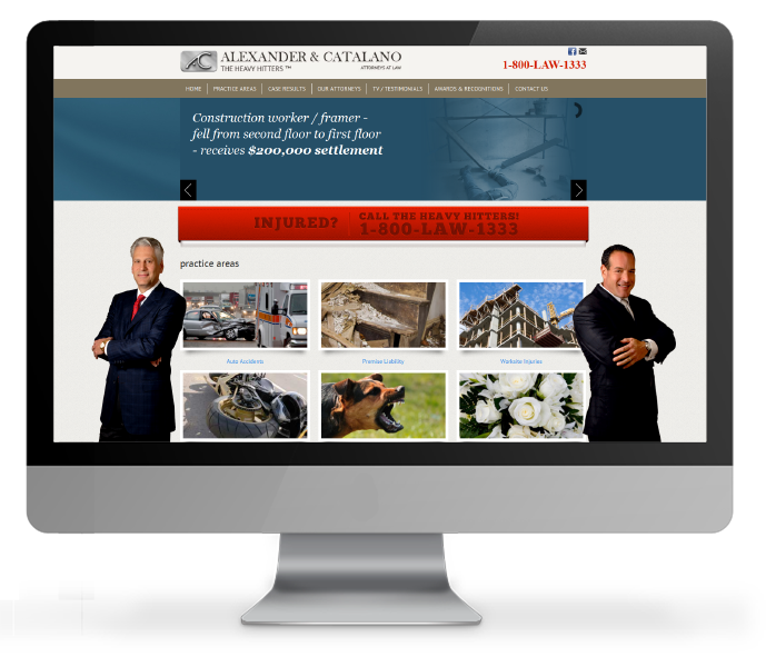 personal injury website design