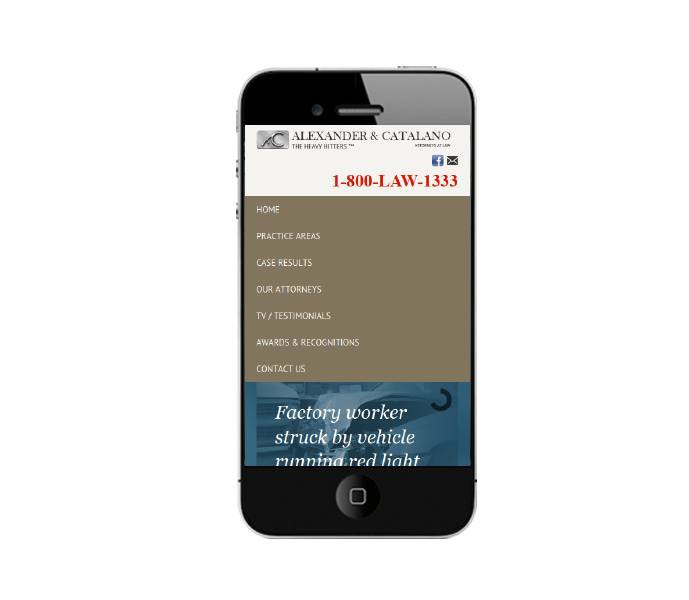 Design for Law Firm websites in phone view