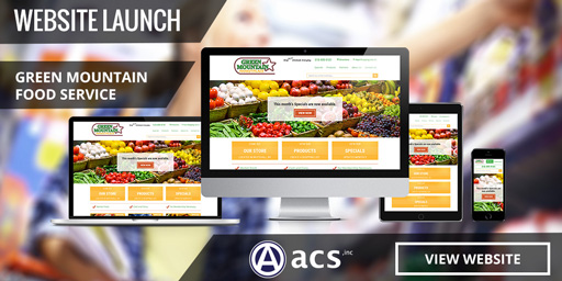 Grocery store website design